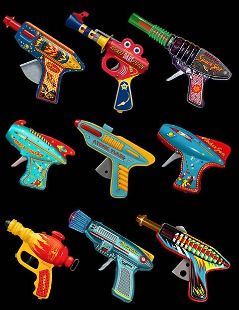 Ray Guns 1 print by Terry Pastor #Illustration #Ray_Guns #Terry_Pastor-@Bailee Peterson this reminds me of your boy child