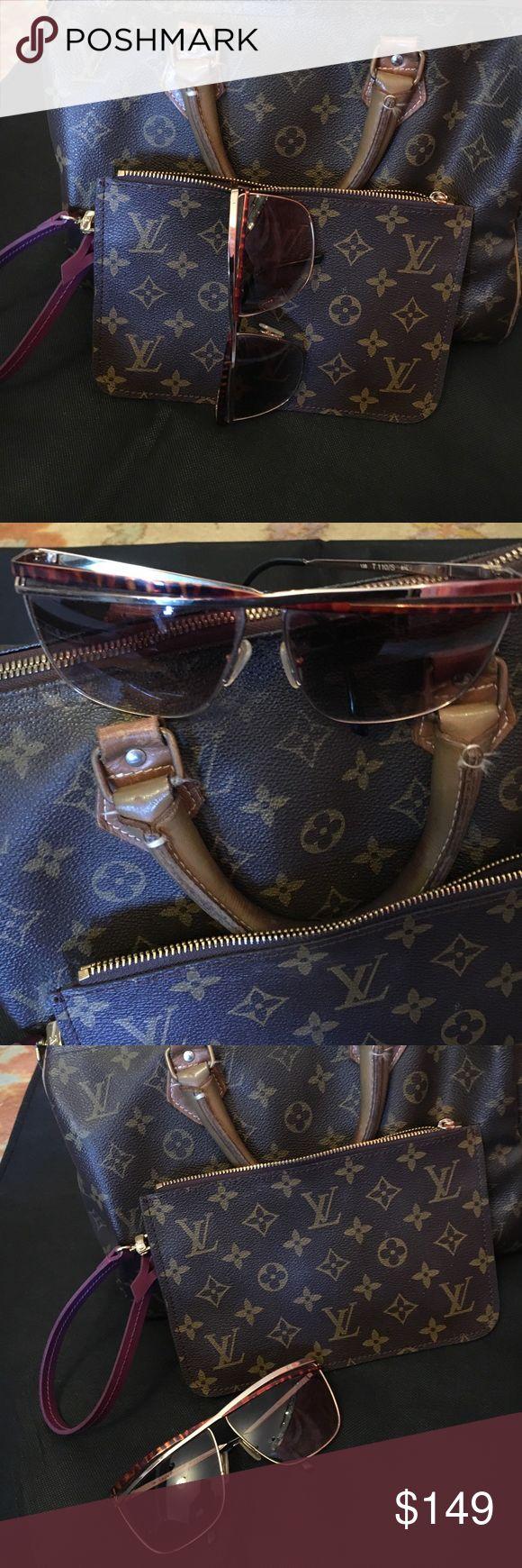 Vintage Laura Biagiotti sunglasses Vintage Laura Biagiotti 80s tortoise shell sunglasses. Made in Italy laura biagiotti Accessories Sunglasses