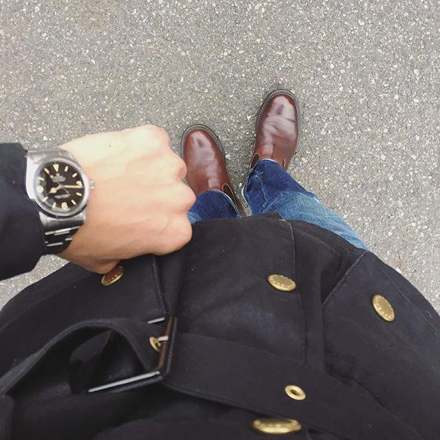 2017/11/20 09:59:35 kkkkk1231 今日は寒いですね〜😩💦僕の中ではinternationalはダウンの手前の冬の防寒着です🇬🇧 #barbour#barbourinternational#levis#levis501xx#trickers#vintagerolex#1016gilt#explorer#explorer1#shoes#watches#vintagewatches#fashion#ootd#靴#革靴#時計#腕時計#ファッション