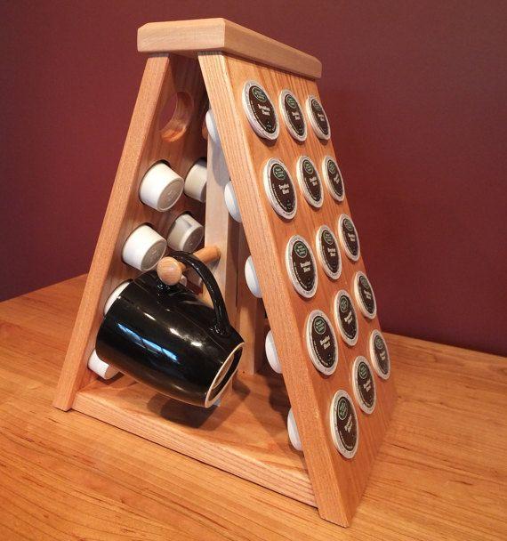 Coffee Pod Holder. Solid Coffee Tree and Maple Coffee Pod