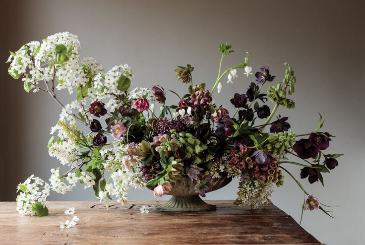 Sarah Winward, whose work is included in an upcoming book, explains how to make a gorgeous spring flower arrangement.