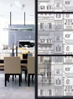 Decowall, HP-84052, 100cm X 1m, Self Adhesive Window Film (privacy, decorative glass film)