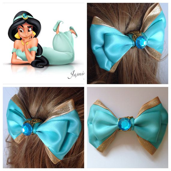 Hey, I found this really awesome Etsy listing at https://www.etsy.com/listing/200621463/handmade-hair-bow-jasmine-from-aladdin