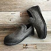 Купить или заказать Туфли валяные в интернет магазине на Ярмарке Мастеров. С доставкой по России и СНГ. Срок изготовления: 5-10 дней. Материалы: натуральная шерсть, подошва ТЭП,…. Размер: 36-40<br /> Размеры 41 и 42 плюс 2000…