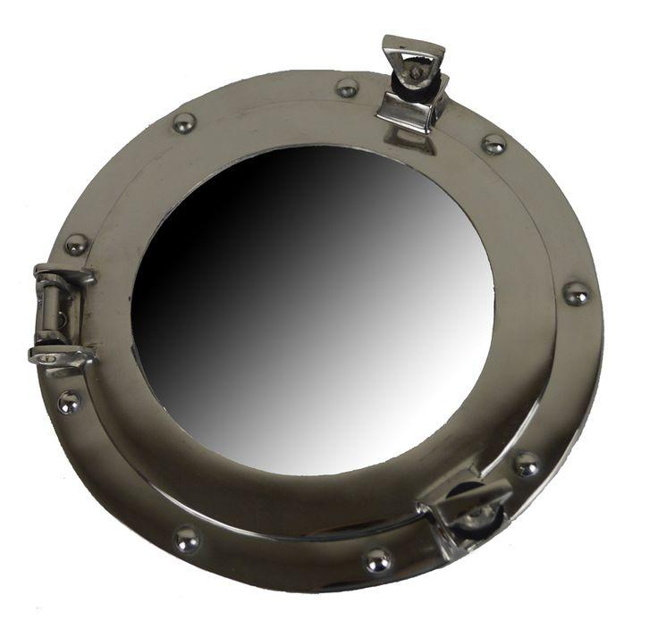 porthole decorative ship finish port nautical theme decor mirror inch buy silver hole decoration