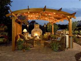 outside kitchen and fireplace.: Idea, Pergolas, Outdoor Rooms, Outdoor Living Spaces, Patio, Backyard, Outdoor Living Rooms, Outdoor Fireplaces, Outdoor Spaces
