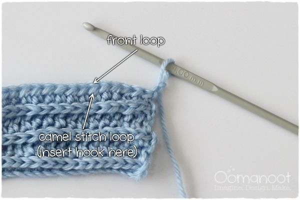 Crochet Camel Stitch: How To | Oomanoot #crochet #free #tutorial #camelstitch