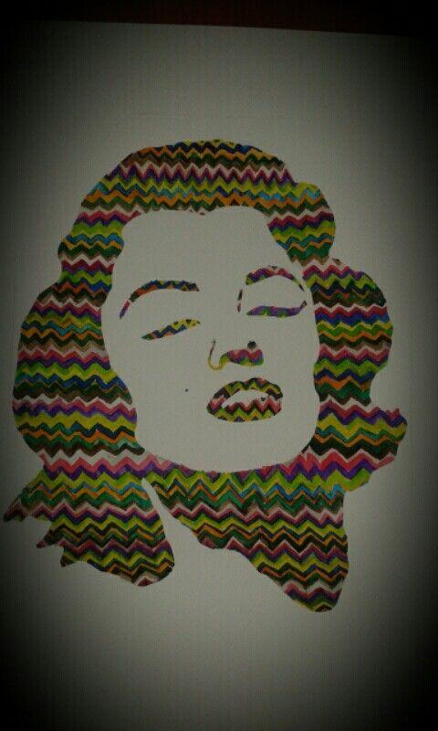 Marilyn Monroe watercolor art
