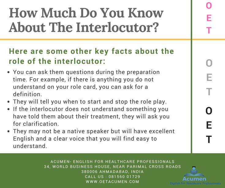 How much do you know about the interlocutor?  Before they sit the test, candidates often ask questions about the role of the interlocutor in the Speaking test.  #OET #Exam