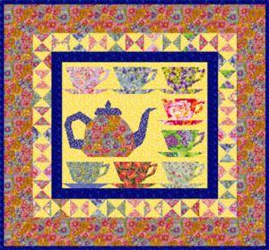 Grandma's Tea Party miniature quilt