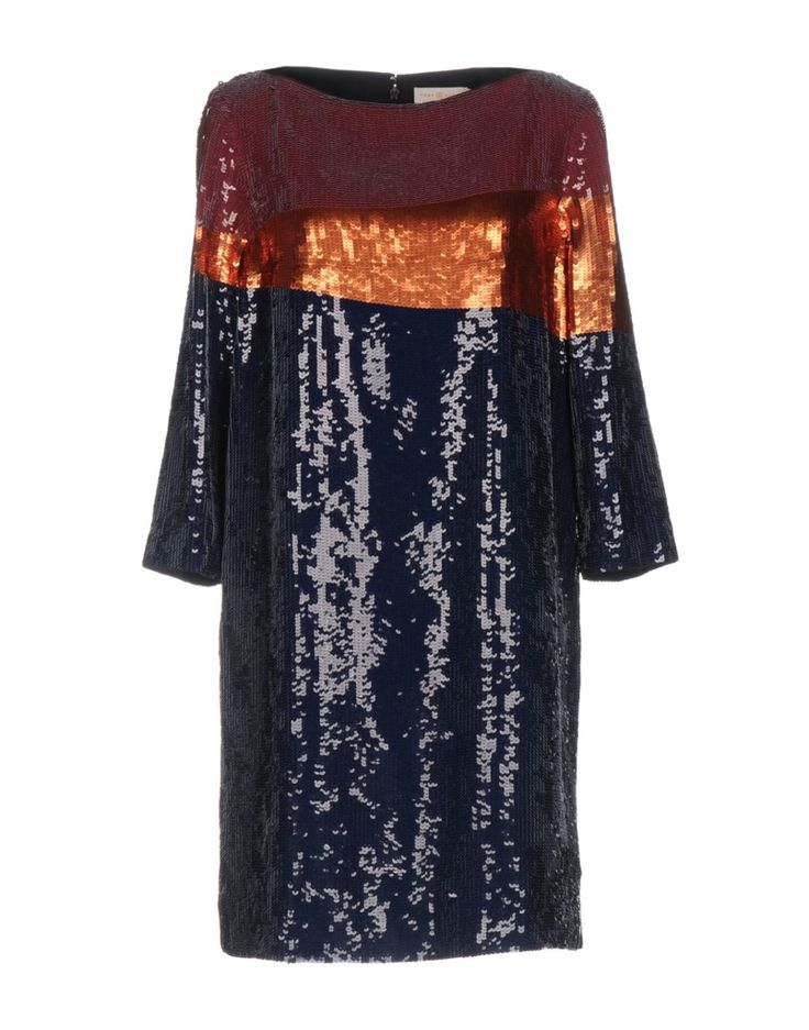 #TORY BURCH Damen Kurzes Kleid Farbe Dunkelblau Größe 5, 34751349TR-5