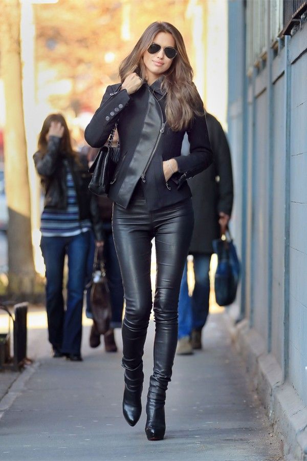 Photos: Irina Shayk out and about in NYC - Leather Girls Blog