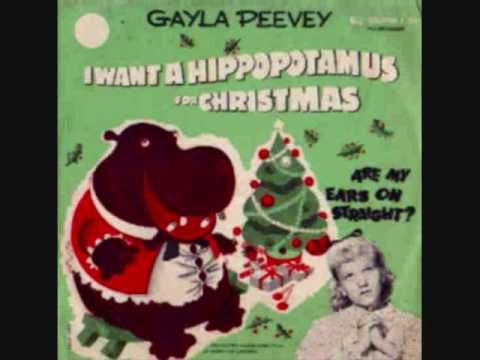 I Want A Hippopotamus For Christmas...this has to be the absolute cutest song