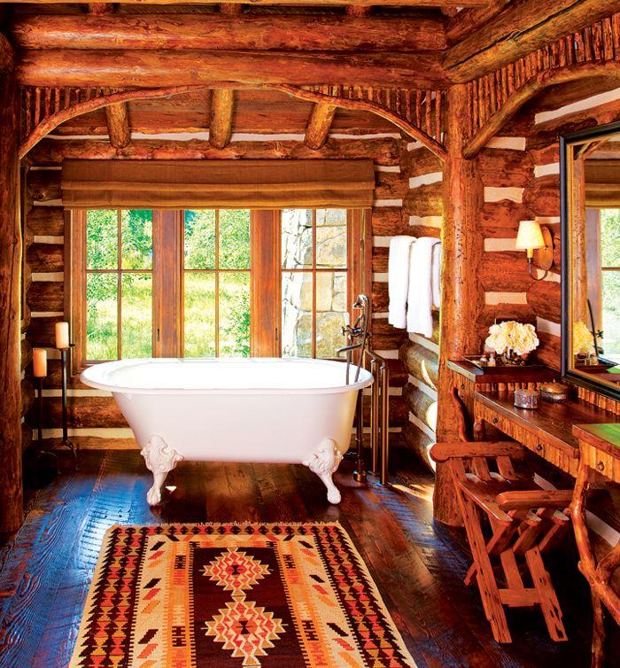 833 best adirondack style images on pinterest village for Adirondack bathroom design