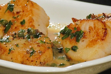 Seared Scallops in Lemon Butter Sauce #KitchenBoss