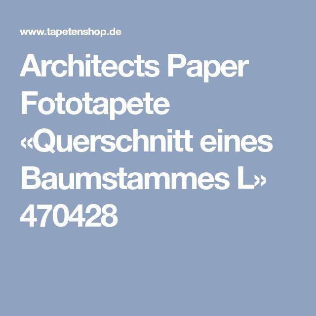Architects Paper Fototapete «Querschnitt eines Baumstammes L» 470428