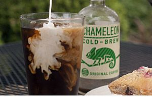 genius! bottled, iced black coffee!
