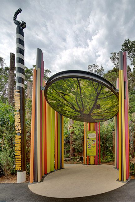 The Lemur Forest Adventure at Taronga Zoo. Jane Irwin _ Landscape Architecture   Landezine Landscape Architecture Works.