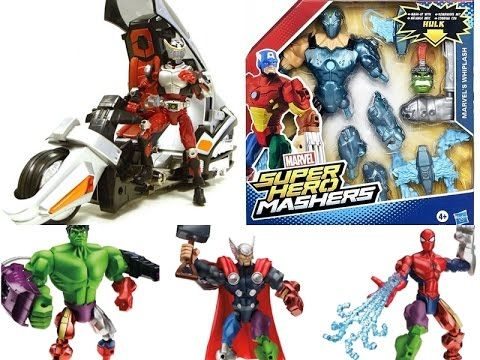Marvel Superhero Mashers Iron Patriot,Captain America,Hulk Toys and DX R...