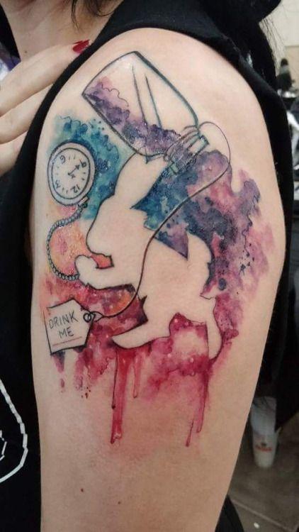 watercolour alice tattoo - Google Search