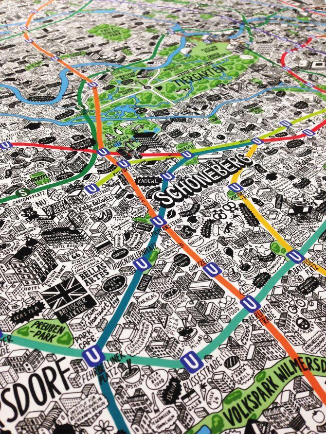 Hand Drawn Map of Berlin 28 best