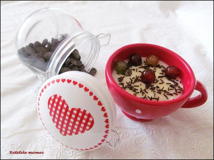 Griș cu lapte și ciocolată