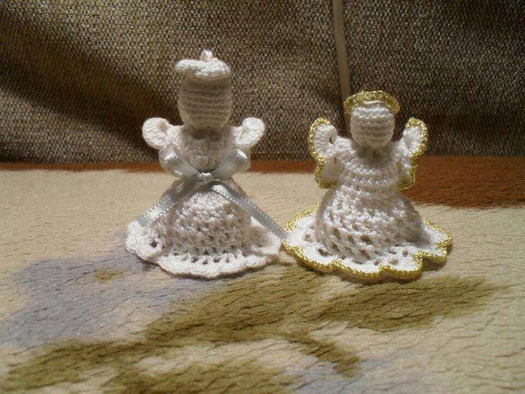Horgolt karácsonyi angyalok