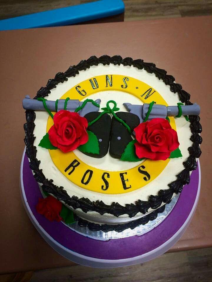 Guns N Roses Cake Cakes Rose Cake Guns N Roses Cake