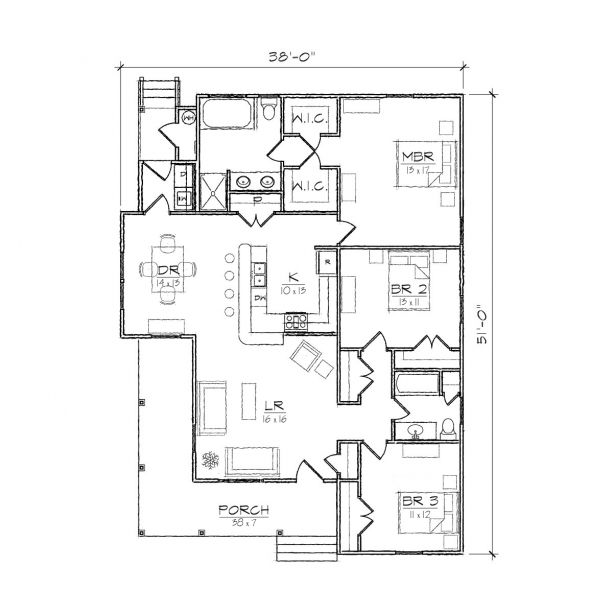 images about small house plans on Pinterest   Southern    Warren III Folk Victorian Floor Plan