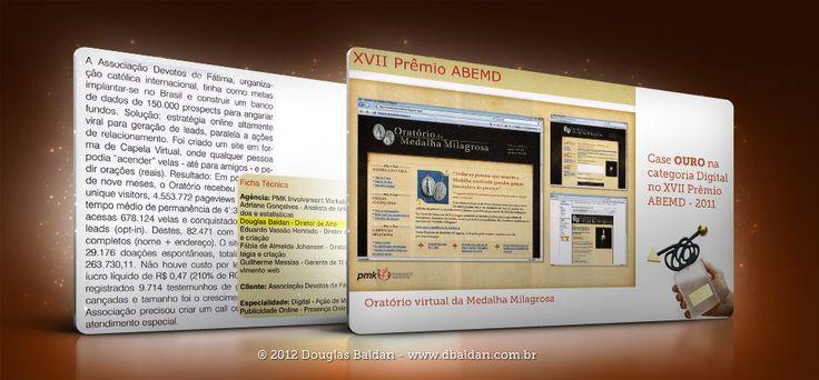 Case OURO XVII Prêmio ABEMD – Oratório da Medalha Milarosa | Douglas Baldan - Online Portfolio | Criar sites, blogs, Templates de Wordpress, Freelancer, layout