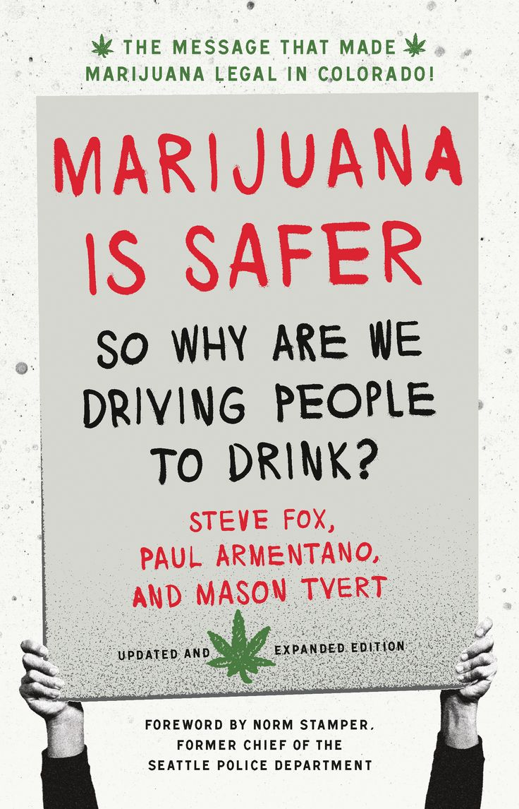 Marijuana Is Safder: So Why Are We Driving People to Drink? Steve Fox, Paul Armentano and Mason Tvert