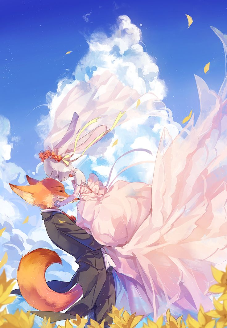 I don't ship anyone in Zootopia, but I had to pin this because the wedding dress is soooo pretty.