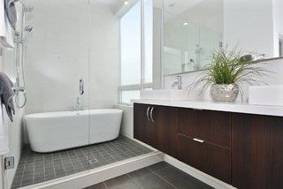 Why to Put Your Tub in the Shower - Save space, cleanup time and maybe even a little money with a shower-bathtub combo. - by John Whipple Houzz Contributor & Vancouver General Contractor   |   September 2013