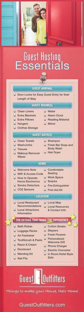 Guest Hosting Essentials Checklist Hosting family,…