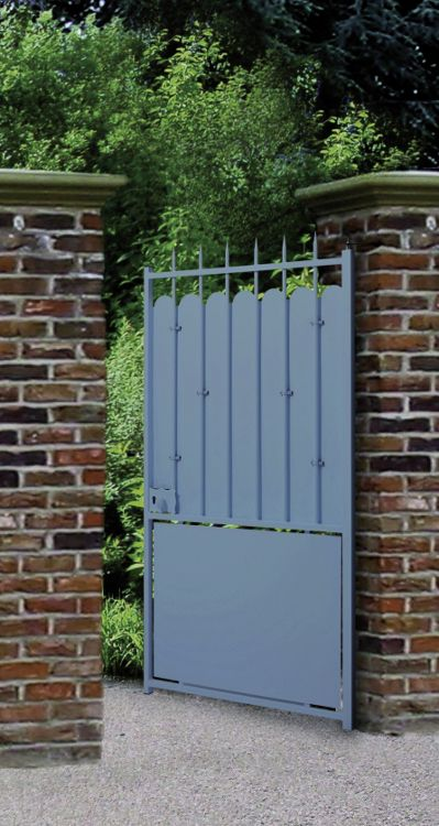 Portail portillon cl ture acier excalibur roy for Barriere metal jardin
