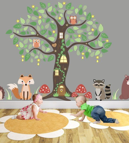 Enchanted Forest Nursery Wall Stickers Part 74