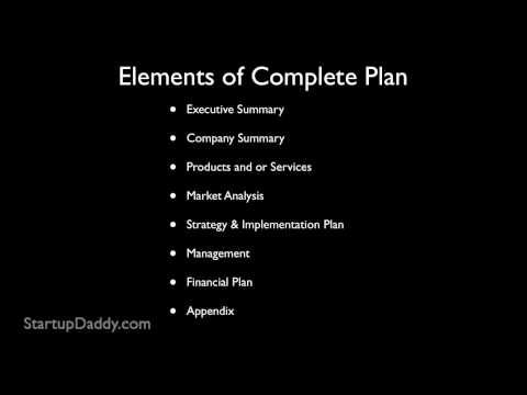 How to write a business plan - because this is THE most important thing to do before starting a business.
