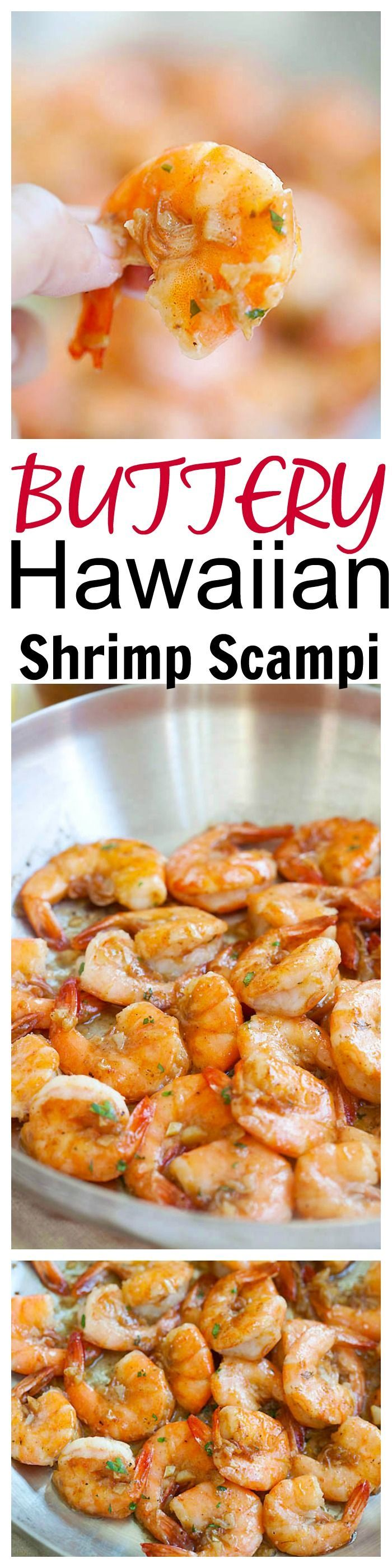 Super buttery and garlicky Hawaiian Shrimp Scampi, totally legit copycat famous Giovanni's shrimp scampi. Bring Hawaii home with my super easy recipe | http://rasamalaysia.com