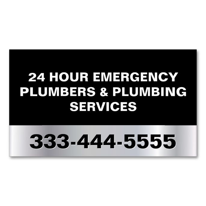 Emergency Plumbers Find A: 2033 Best Images About Plumbing Plumber Business Cards On
