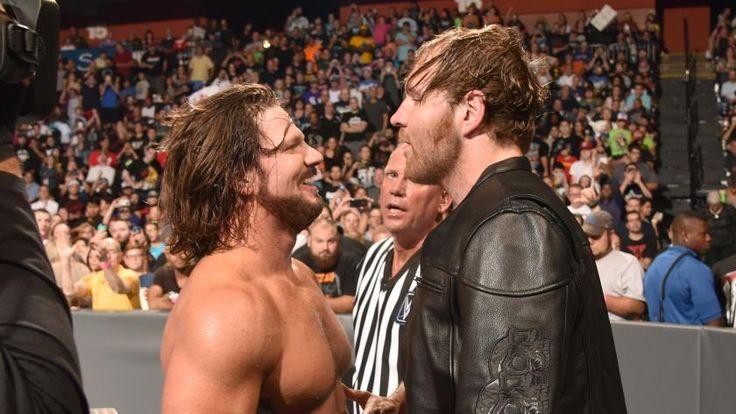WWE Champion, Dean Ambrose & AJ Styles