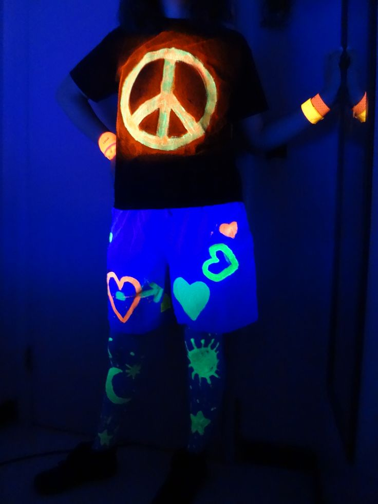 What to wear to a black light party clothes and - How to get exterior paint out of clothes ...