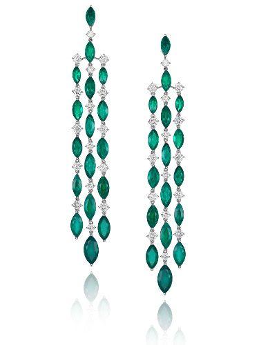 Chopard emerald and diamond chandeliers, simple elegance~