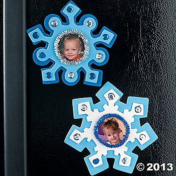 Snowflake Photo Frame Magnet Craft Kit