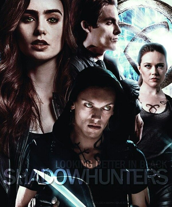 The Mortal Instruments shadowhunters Clary Fray, Jace Herondale, Isabelle & Alec Lightwood