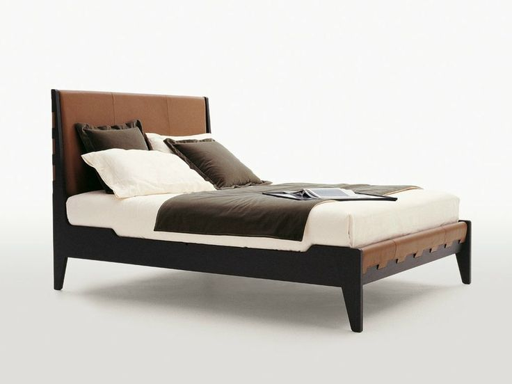 Download the catalogue and request prices of Talamo By maxalto, leather double bed with upholstered headboard design Antonio Citterio, talamo Collection