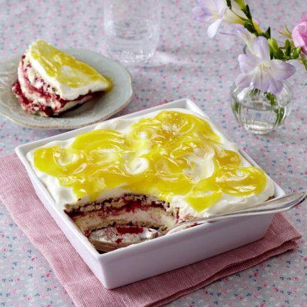 Himbeer-Schmand-Lasagne mit Lemon Curd Rezept