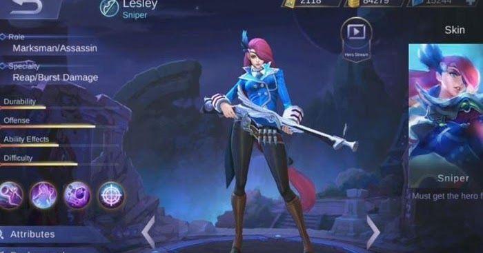 Si Penembak Jitu Lesley Hero Marksman Terbaru Mobile Legends - Penjelasan tentang hero marksman terbaru mobile legends lesley si penembak jitu yang keren