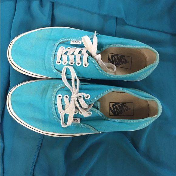 Light blue vans shoes. Used a couple of times! I really liked these shoes when I bought them but I couldn't wear them that much because of posture problems, that's why I'm selling them :) Vans Shoes Athletic Shoes