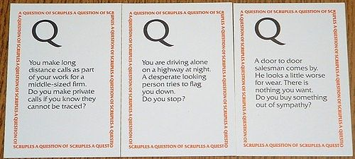 Henry Makow was working as a freelance writer in Winnipeg when he came up with Scruples, a game of moral dilemmas.