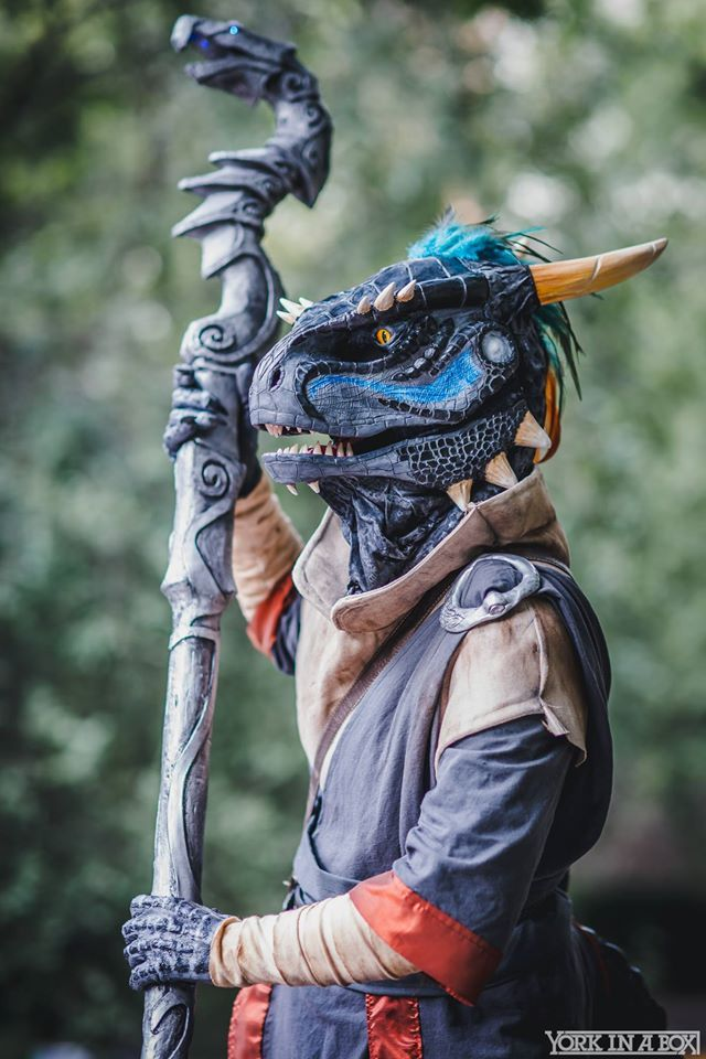 Argonian cosplay from Skyrim by Tiny Wyvern Photo by York In A Box